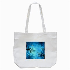 Blue Night Portrait Background Tote Bag (white)