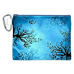 Blue Night Portrait Background Canvas Cosmetic Bag (XXL)