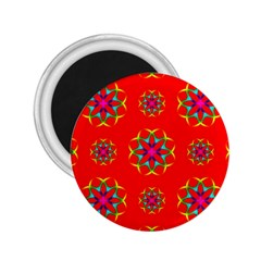 Rainbow Colors Geometric Circles Seamless Pattern On Red Background 2 25  Magnets