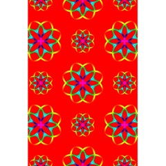 Rainbow Colors Geometric Circles Seamless Pattern On Red Background 5 5  X 8 5  Notebooks