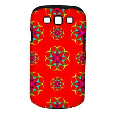 Rainbow Colors Geometric Circles Seamless Pattern On Red Background Samsung Galaxy S Iii Classic Hardshell Case (pc+silicone)