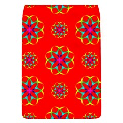 Rainbow Colors Geometric Circles Seamless Pattern On Red Background Flap Covers (s)