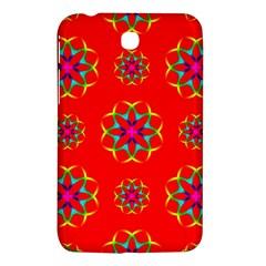 Rainbow Colors Geometric Circles Seamless Pattern On Red Background Samsung Galaxy Tab 3 (7 ) P3200 Hardshell Case