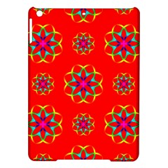 Rainbow Colors Geometric Circles Seamless Pattern On Red Background iPad Air Hardshell Cases