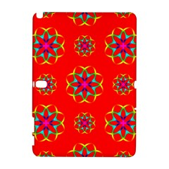 Rainbow Colors Geometric Circles Seamless Pattern On Red Background Galaxy Note 1