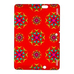 Rainbow Colors Geometric Circles Seamless Pattern On Red Background Kindle Fire Hdx 8 9  Hardshell Case