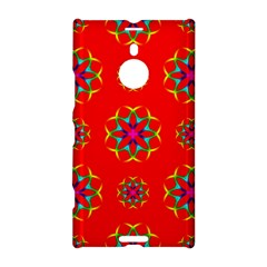 Rainbow Colors Geometric Circles Seamless Pattern On Red Background Nokia Lumia 1520