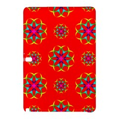 Rainbow Colors Geometric Circles Seamless Pattern On Red Background Samsung Galaxy Tab Pro 10 1 Hardshell Case