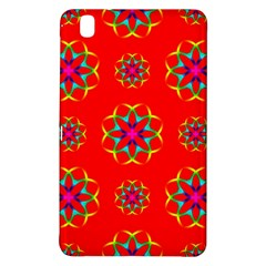 Rainbow Colors Geometric Circles Seamless Pattern On Red Background Samsung Galaxy Tab Pro 8.4 Hardshell Case
