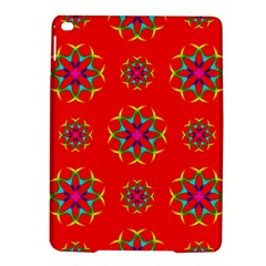 Rainbow Colors Geometric Circles Seamless Pattern On Red Background Ipad Air 2 Hardshell Cases