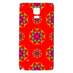 Rainbow Colors Geometric Circles Seamless Pattern On Red Background Galaxy Note 4 Back Case