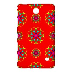Rainbow Colors Geometric Circles Seamless Pattern On Red Background Samsung Galaxy Tab 4 (8 ) Hardshell Case