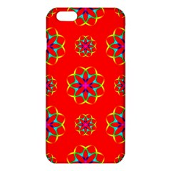 Rainbow Colors Geometric Circles Seamless Pattern On Red Background iPhone 6 Plus/6S Plus TPU Case