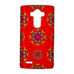 Rainbow Colors Geometric Circles Seamless Pattern On Red Background Lg G4 Hardshell Case