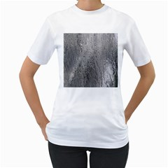 Water Drops Women s T-Shirt (White) (Two Sided)