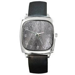 Water Drops Square Metal Watch