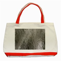 Water Drops Classic Tote Bag (Red)