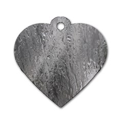 Water Drops Dog Tag Heart (two Sides)