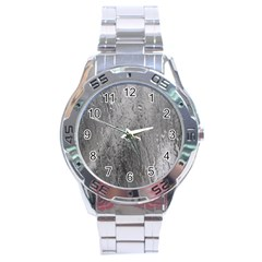 Water Drops Stainless Steel Analogue Watch