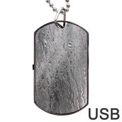 Water Drops Dog Tag Usb Flash (one Side)