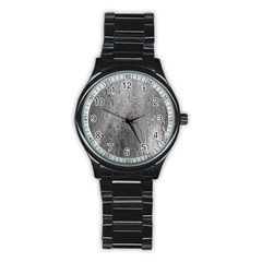 Water Drops Stainless Steel Round Watch