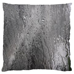 Water Drops Large Flano Cushion Case (One Side)