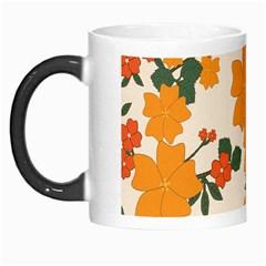 Vintage Floral Wallpaper Background In Shades Of Orange Morph Mugs