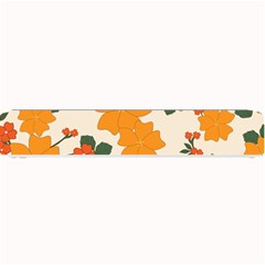 Vintage Floral Wallpaper Background In Shades Of Orange Small Bar Mats