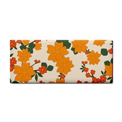 Vintage Floral Wallpaper Background In Shades Of Orange Cosmetic Storage Cases