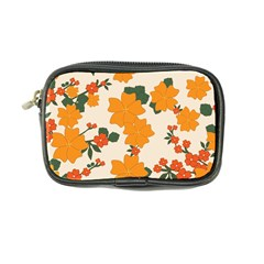 Vintage Floral Wallpaper Background In Shades Of Orange Coin Purse