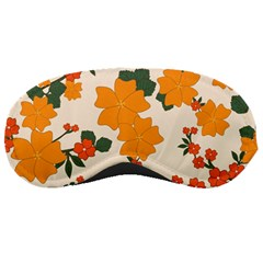 Vintage Floral Wallpaper Background In Shades Of Orange Sleeping Masks
