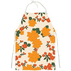 Vintage Floral Wallpaper Background In Shades Of Orange Full Print Aprons