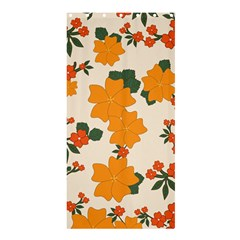 Vintage Floral Wallpaper Background In Shades Of Orange Shower Curtain 36  x 72  (Stall)