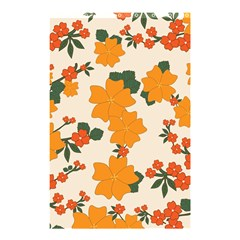 Vintage Floral Wallpaper Background In Shades Of Orange Shower Curtain 48  x 72  (Small)