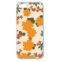 Vintage Floral Wallpaper Background In Shades Of Orange Apple Seamless iPhone 5 Case (Color)