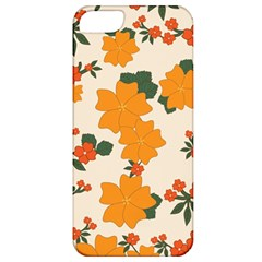 Vintage Floral Wallpaper Background In Shades Of Orange Apple Iphone 5 Classic Hardshell Case