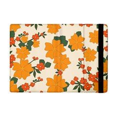 Vintage Floral Wallpaper Background In Shades Of Orange Apple iPad Mini Flip Case