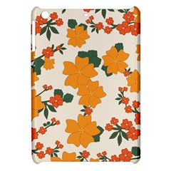 Vintage Floral Wallpaper Background In Shades Of Orange Apple iPad Mini Hardshell Case