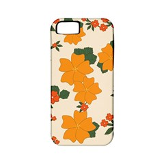 Vintage Floral Wallpaper Background In Shades Of Orange Apple iPhone 5 Classic Hardshell Case (PC+Silicone)