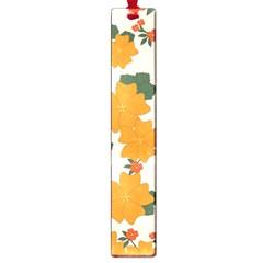 Vintage Floral Wallpaper Background In Shades Of Orange Large Book Marks