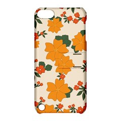 Vintage Floral Wallpaper Background In Shades Of Orange Apple Ipod Touch 5 Hardshell Case With Stand