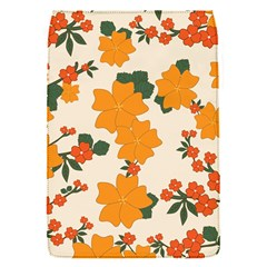 Vintage Floral Wallpaper Background In Shades Of Orange Flap Covers (s)