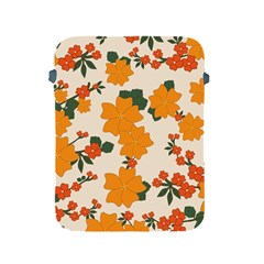 Vintage Floral Wallpaper Background In Shades Of Orange Apple Ipad 2/3/4 Protective Soft Cases