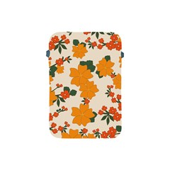Vintage Floral Wallpaper Background In Shades Of Orange Apple Ipad Mini Protective Soft Cases