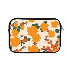 Vintage Floral Wallpaper Background In Shades Of Orange Apple iPad Mini Zipper Cases
