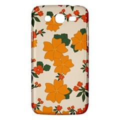 Vintage Floral Wallpaper Background In Shades Of Orange Samsung Galaxy Mega 5.8 I9152 Hardshell Case