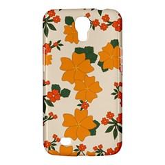 Vintage Floral Wallpaper Background In Shades Of Orange Samsung Galaxy Mega 6.3  I9200 Hardshell Case