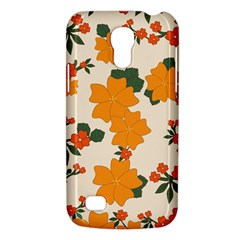 Vintage Floral Wallpaper Background In Shades Of Orange Galaxy S4 Mini