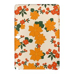 Vintage Floral Wallpaper Background In Shades Of Orange Samsung Galaxy Tab Pro 12 2 Hardshell Case