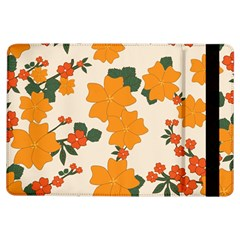 Vintage Floral Wallpaper Background In Shades Of Orange iPad Air Flip